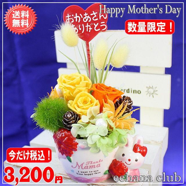 母の日イチオシプリザ!ラビットオレンジ【送料無料】